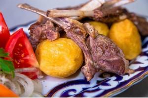 Рецепт: Казан-Кебаб с картошкой в казане