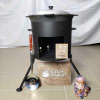 Комплект «Казан 22 литров + Печка + Шумовка или Половник»