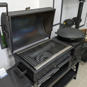 Гриль-печь ПКМ-смокер, с подставкой