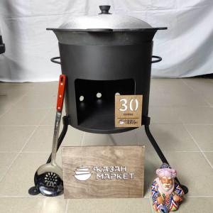 Печь разборная под казан 30 литров с платформой