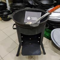 Комплект «Казан 22 литра + Печка + Шумовка»
