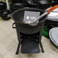 Комплект «Казан 10 литров + Печка + Шумовка»