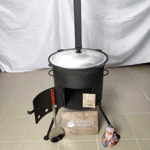 Печь разборная под казан 16 литров с трубой
