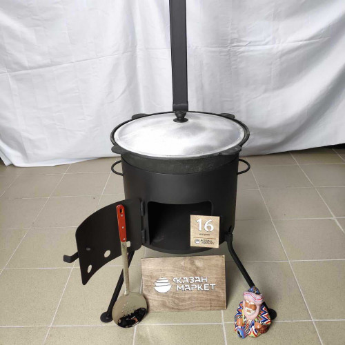 Печь (учаг) под казан 16 литров с трубой