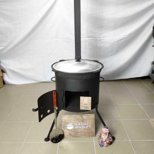 Печь разборная под казан 8 литров с трубой