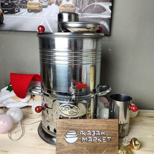 Самовар Разборный 3,5 литра жаровой на дровах, турецкий, 1 кран