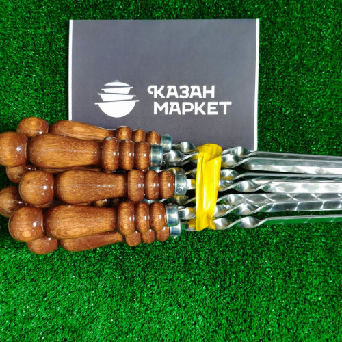 Шампур с деревянной ручкой 50 см