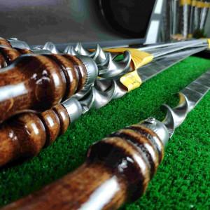 Шампур с деревянной ручкой для люля, 20х3 мм 50 см