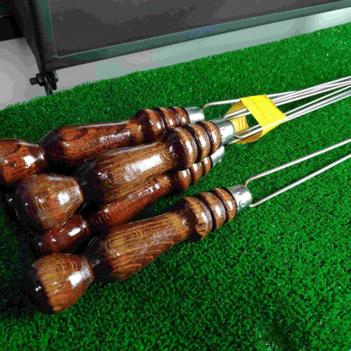 Шампур для грибов и овощей с деревянной ручкой, 40 см